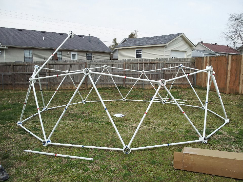 geodesic dome pvc kits made from pipe - Dome Greenhouse Designs