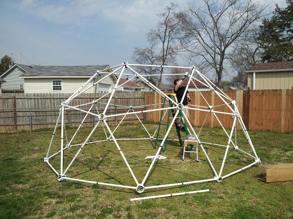 Geodesic Dome PVC - Geodesic Dome Kits made from PVC Pipe