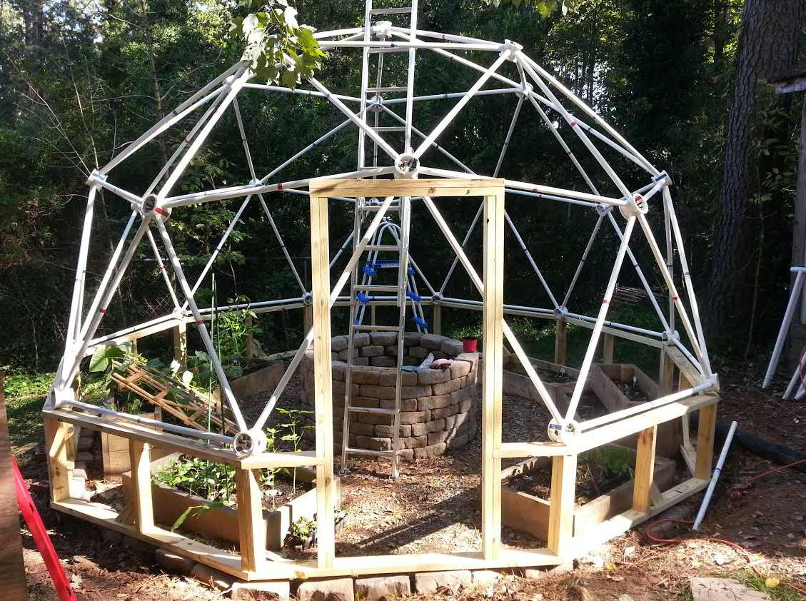 Geodesic dome pvc nathan byrd customer review of our - The geodesic dome in connecticut call of earth ...